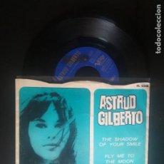 Discos de vinilo: ASTRUD GILBERTO THE SHADOW OF YOUR SMILE SINGLE SPAIN 1966 PEPETO TOP. Lote 212874516