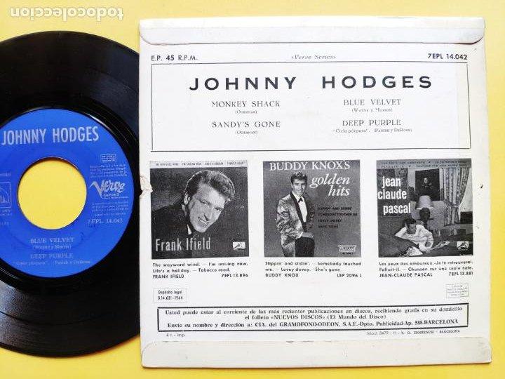 Discos de vinilo: JOHNNY HODGES - EP Spain PS - EX+ * MONKEY SHACK * TOP MOD JAZZ * Año 1964 * 7EPL 14.042 - Foto 2 - 212881313