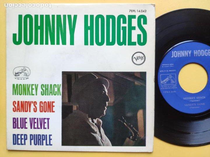 JOHNNY HODGES - EP SPAIN PS - EX+ * MONKEY SHACK * TOP MOD JAZZ * AÑO 1964 * 7EPL 14.042 (Música - Discos de Vinilo - EPs - Jazz, Jazz-Rock, Blues y R&B)