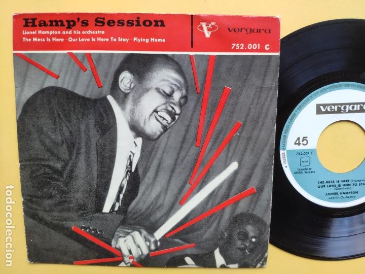 LIONEL HAMPTON - EP SPAIN PS * THE MESS IS HERE + 3 (Música - Discos de Vinilo - EPs - Jazz, Jazz-Rock, Blues y R&B)
