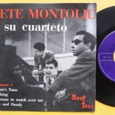 Discos de vinilo: TETE MONTOLIU Y SU CUARTETO - EP SPAIN PS * VOLUMEN 1 * BERNIE' S TUNE / WALKING + 2 * AÑO 1958. Lote 212881813