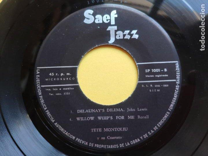 Discos de vinilo: TETE MONTOLIU y su conjunto - EP Spain PS - 2º VOLUMEN * DELAUNAY S DILEMA + 3 * Año 1959 - Foto 4 - 212881857