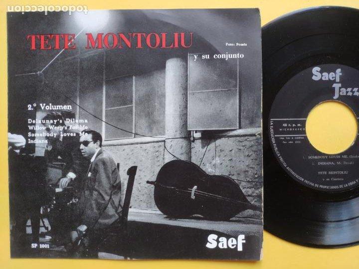 TETE MONTOLIU Y SU CONJUNTO - EP SPAIN PS - 2º VOLUMEN * DELAUNAY' S DILEMA + 3 * AÑO 1959 (Música - Discos de Vinilo - EPs - Jazz, Jazz-Rock, Blues y R&B)