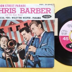 Disques de vinyle: CHRIS BARBER AND HIS JAZZ BAND - EP FRANCE PS - EX * BOURBON STREET PARADE + 3. Lote 212882787