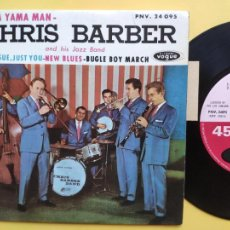 Disques de vinyle: CHRIS BARBER AND HIS JAZZ BAND - EP FRANCE PS - EX * YAMA YAMA MAN / SWEET SUE, JUST YOU / NEW BLUES. Lote 212882845