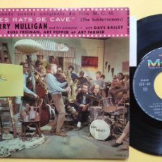 Discos de vinilo: GERRY MULLIGAN - EP FRANCE PS - EX * LES RATS DE CAVE * BREAD AND WINE / THINGS ARE LOOKING DOWN. Lote 212883255