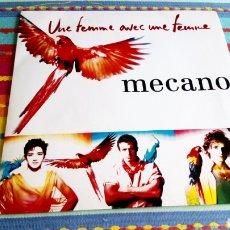 Discos de vinilo: MECANO FRANCÉS FRANCIA UNE FEMME AVEC UNE FEMME MUJER CONTRA MUJER BMG ARIOLA. Lote 212886558