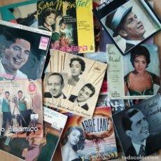 Discos de vinilo: LOTE 50 SINGLES ANTIGUOS AÑOS 20 A LOS 60. Lote 212889940