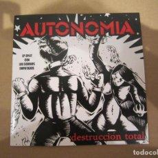 Discos de vinilo: EP - SPLIT - PUNK - AUTONOMÍA Y LOS SOBRIOS EMPUTADOS - 2007 - IMPORTACIÓN U.S.A.. Lote 212896112