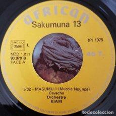 Dischi in vinile: ORCHESTRE KIAM - MASUMU 1 & 2 - AFRICAN 90.979 B - 1975 - EDICIÓN FRANCESA. Lote 212899647