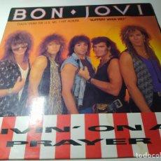 Disques de vinyle: MAXI - BON JOVI – LIVIN' ON A PRAYER - 888 118-1 ( VG+ /VG) EURO 1986. Lote 212904357