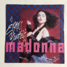 Discos de vinilo: MADONNA – EXPRESS YOURSELF / THE LOOK OF LOVE GERMANY 1989 SIRE. Lote 212922918