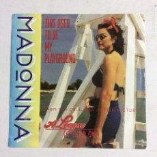 Discos de vinilo: MADONNA – THIS USED TO BE MY PLAYGROUND GERMANY 1992 SIRE. Lote 212923631