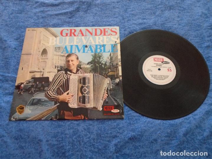 AIMABLE SU ACORDEON Y ORGANO ELECTRICO SPAIN LP 1967 GRANDES BULEVARES INSTRUMENTAL FRANCES MODE (Música - Discos - LP Vinilo - Canción Francesa e Italiana)