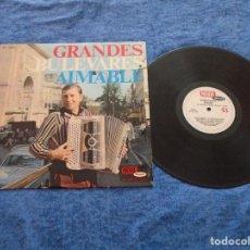 Discos de vinilo: AIMABLE SU ACORDEON Y ORGANO ELECTRICO SPAIN LP 1967 GRANDES BULEVARES INSTRUMENTAL FRANCES MODE. Lote 212924547