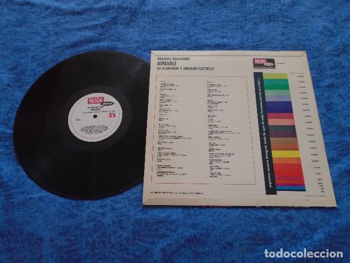Discos de vinilo: AIMABLE SU ACORDEON Y ORGANO ELECTRICO SPAIN LP 1967 GRANDES BULEVARES INSTRUMENTAL FRANCES Mode - Foto 2 - 212924547