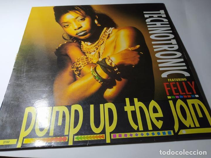 MAXI - TECHNOTRONIC FEATURING FELLY ?– PUMP UP THE JAM - MAX 351 ( VG+ /VG+) SPAIN 1989 (Música - Discos de Vinilo - Maxi Singles - Disco y Dance)