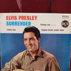 Discos de vinilo: ELVIS PRESLEY. SURRENDER. EP 1961. BUEN ESTADO. Lote 212928960