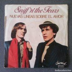 Discos de vinilo: VINILO EP SNIFF N THE TEARS, NUEVAS LINEAS SOBRE EL AMOR. Lote 212938058