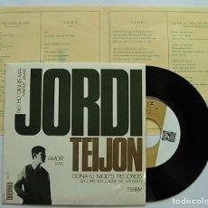 Discos de vinilo: JORDI TEIJON RARE SPANISH EP SUNG IN CATALAN EUROVISION COVERS 1965 RARE !!. Lote 212960266