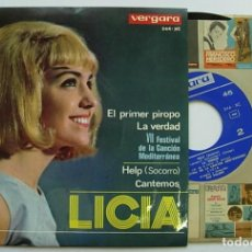 "Discos de vinilo: LICIA RARE SPAIN 7"" EP 1965 THE BEATLES HELP SPANISH COVER 60S FEMALE BEAT YE-YE. Lote 212961800"