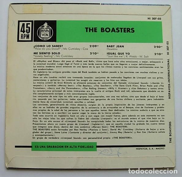"""Discos de vinilo: THE BOASTERS Very Rare Spain 7"""" EP 1964 AUTENTICO LIVERPOOL SOUND MERSEYBEAT - Foto 2 - 212963397"""