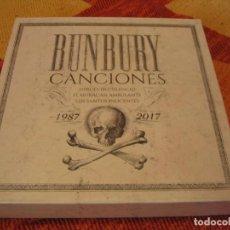 Discos de vinilo: BUNBURY CAJA CANCIONES A ESTRENAR 1987-2017 COMPLETA HEROES DEL SILENCIO. Lote 212988561