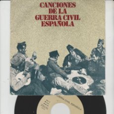 Discos de vinilo: LOTE P-DISCO VINILO SINGLE CANCIONES DE LA GUERRA CIVIL. Lote 212995147