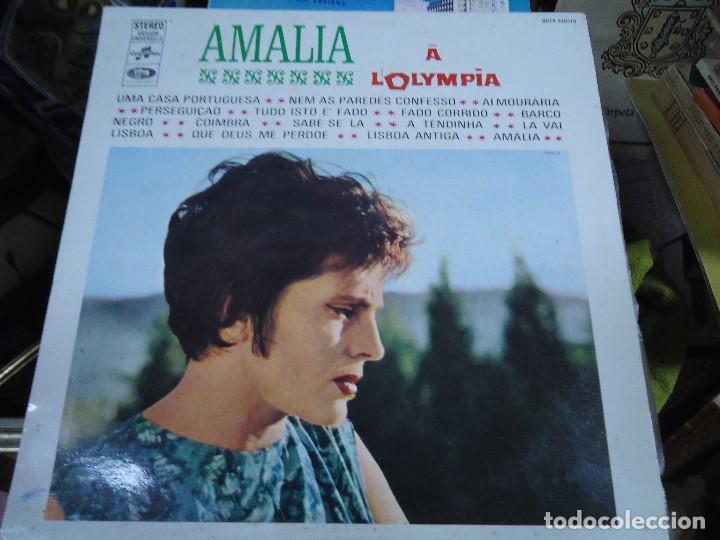 AMALIA RODRIGUES* ?– LES SUCCÈS D'AMALIA RODRIGUES Á L`OLYMPIA MADE IN FRANCE LP UNA CASA PORTUGUES (Música - Discos - LP Vinilo - Cantautores Extranjeros)