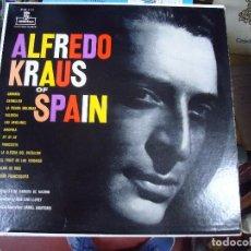 Discos de vinilo: LP ALFREDO KRAUS OF SPAIN. GRANADA. ESTRELLITA.LA PÍCARA MOLINERA. ORIGINAL EEUU MONTILLA. Lote 213006102