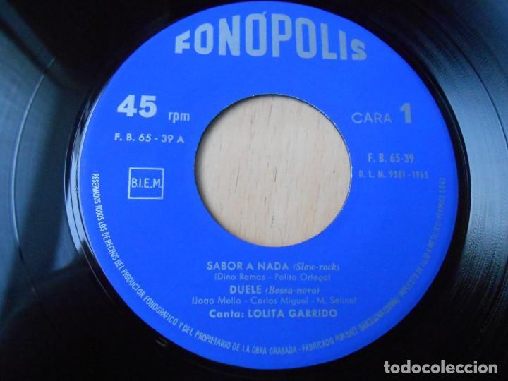 Discos de vinilo: LOLITA GARRIDO, EP, LA CIRCULACIÓN + SABOR A NADA + 2, AÑO 1965 - Foto 3 - 213014388