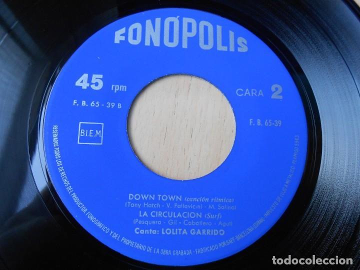 Discos de vinilo: LOLITA GARRIDO, EP, LA CIRCULACIÓN + SABOR A NADA + 2, AÑO 1965 - Foto 4 - 213014388
