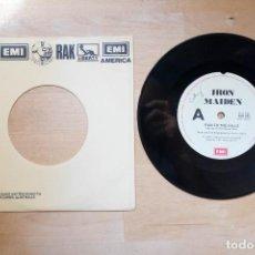 Discos de vinilo: IRON MAIDEN RUN TO THE HILLS 7 SINGLE EDICION AUSTRALIA. Lote 213025498