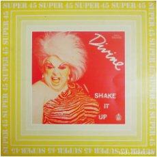 Discos de vinilo: DIVINE – SHAKE IT UP - MAXI SPAIN 1983 - VANGUARD 549 044 - SUPER 45 - BOBBY ORLANDO. Lote 213041003