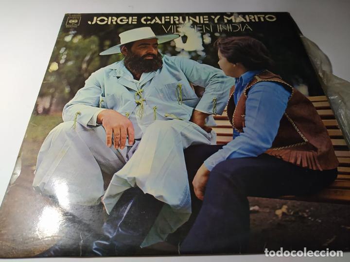 LP - JORGE CAFRUNE Y MARITO ?– VIRGEN INDIA (VG+ / VG+) SPAIN 1973 (Música - Discos - LP Vinilo - Grupos y Solistas de latinoamérica)
