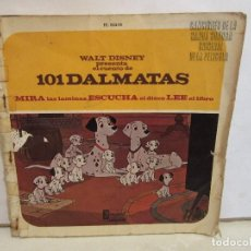 Discos de vinilo: 101 DALMATAS - DISNEYLAND - AUDIOCUENTO - 1968 - COMPLETO - SPAIN - VG/G. Lote 248043940
