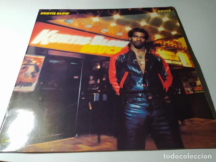 LP - KURTIS BLOW ?– DEUCE - 845 172-1 (VG+ / VG+) SPAIN 1990 (Música - Discos - LP Vinilo - Rap / Hip Hop)