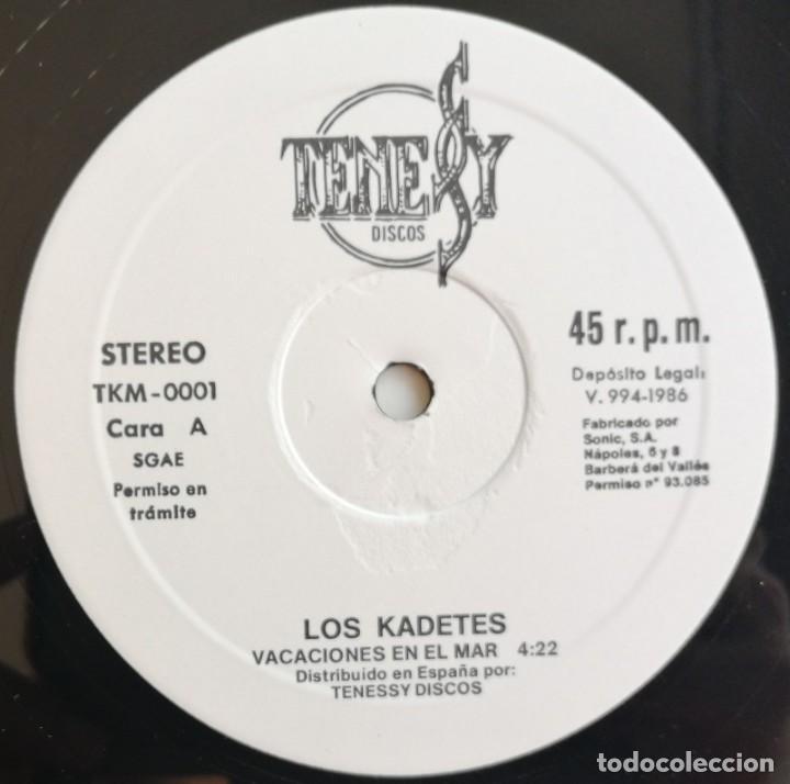 Discos de vinilo: Kadetes-Vacaciones En El Mar, Tenessy Discos TKM-0001 - Foto 5 - 213093728