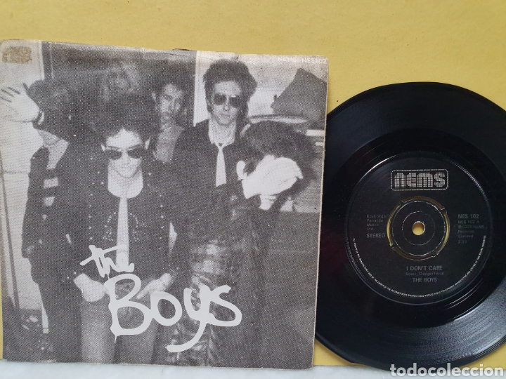 THE BOYS. I DONT CARE. SODA PRESSING. NEMS RECORDS. SINGLE 1977. (Música - Discos - Singles Vinilo - Punk - Hard Core)