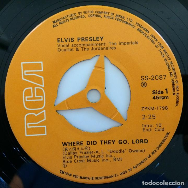 Discos de vinilo: Elvis Presley - Where Did They Go, Lord / Rags To Riches Japan 1971 RCA - Foto 3 - 213094095