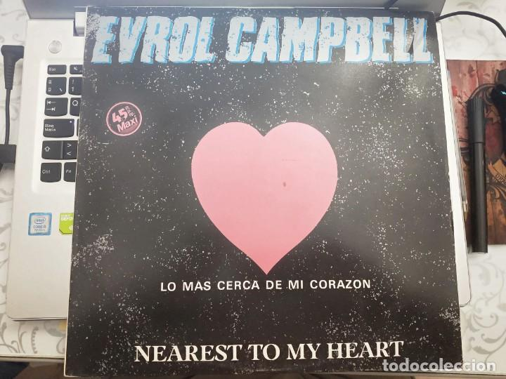 "Discos de vinilo: Evrol Campbell - Nearest To My Heart (12"") 1983. Stiff Records Victoria 22MO565, VIC-62.COMO NUEVO - Foto 1 - 213094686"
