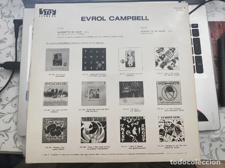 "Discos de vinilo: Evrol Campbell - Nearest To My Heart (12"") 1983. Stiff Records Victoria 22MO565, VIC-62.COMO NUEVO - Foto 2 - 213094686"