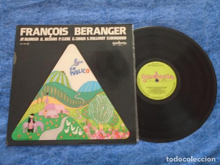 FRANÇOIS BERANGER SPAIN LP 1978 EN PUBLICO POP ROCK BLUES CHANSON MUY BUEN ESTADO MIRA !! (Música - Discos - LP Vinilo - Canción Francesa e Italiana)