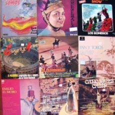 Discos de vinilo: LOTE 9 LP FLAMENCO Y +(PASODOBLES, EMILIO EL MORO, LA TUNA, CANCIONES CAMP, LA GENERALA, CASTAÑUELAS. Lote 213103431
