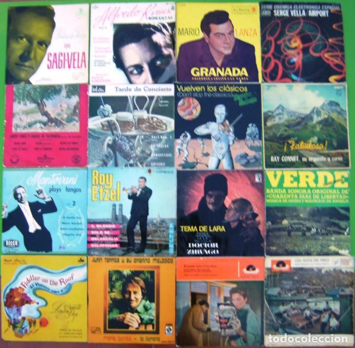LOTE 16 SINGLES INSTRUMENTALES Y MAS (LUIS SAGI VELA, ALFREDO KRAUS,ROY ETZEL,MARIO LANZA, MANTOVANI (Música - Discos - Singles Vinilo - Clásica, Ópera, Zarzuela y Marchas)