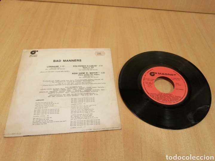 Discos de vinilo: Bad Manners. Lorraine, Back in the 60, Here comes the major. - Foto 2 - 213107458