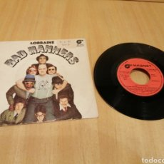Discos de vinilo: BAD MANNERS. LORRAINE, BACK IN THE 60, HERE COMES THE MAJOR.. Lote 213107458