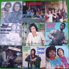 Discos de vinilo: LOTE 9 SINGLES (CUERPOS Y ALMAS, FRANCISCO HEREDERO, DR. POP, DANIEL VELAZQUEZ, CHISPAS,DUO DINAMICO. Lote 213109272