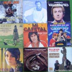 Discos de vinilo: LOTE 9 SINGLES (EMILIO JOSE, GELU, GLORIA, GEORGIE DAN, HERMANOS CALATRAVA, FRANCISCO VALLADARES...). Lote 213109511