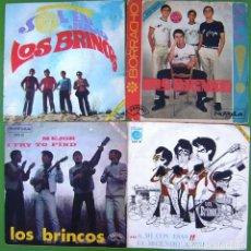 Discos de vinilo: LOTE 4 SINGLES DE LOS BRINCOS. Lote 213109666